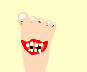 smiling foot