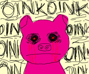 Demon pig stares into your soul