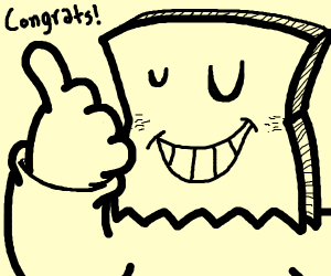 Drawception avatar congratulates you