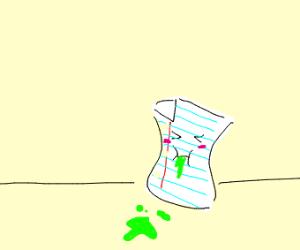 Sick paper