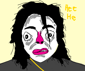 Michael Jackson with a cold saying hee hee
