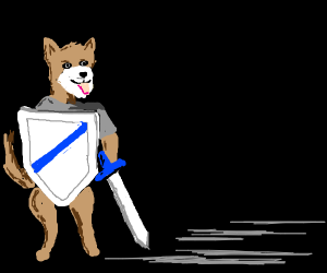 dog with armor