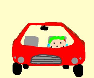 Taco driving car