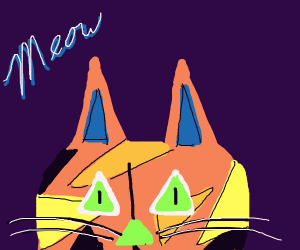 Awesome abstracty cat