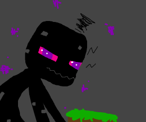 Enderman looks at you