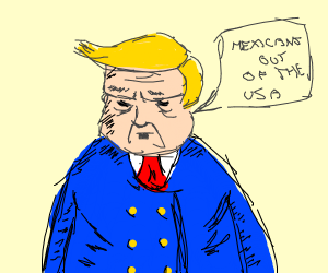 trump being a racist