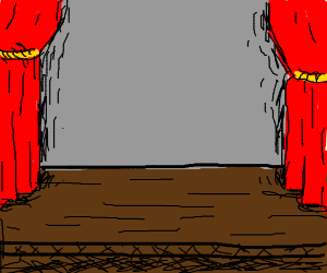 An empty theater stage