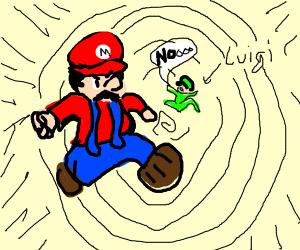Mario and Luigi sucked into wormhole