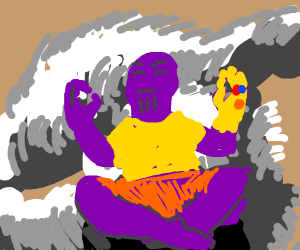 thanos has achieved tranquility
