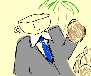 Cuphead but a coconut business man
