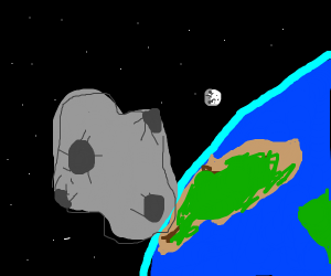 Astroid crashing to Earth