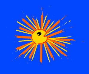 pacman turns into the sun