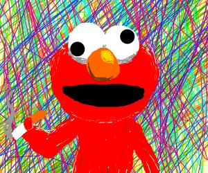 Elmo (sesume street) is high af