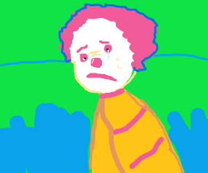 Ronald McDonald's ha existential crisis