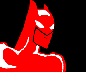 Batman wears a red suit