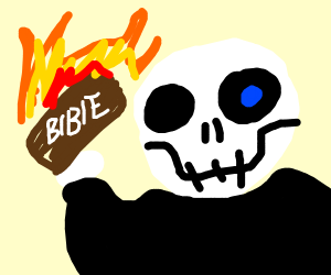 Sans burning the bible