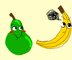 Pair annoyed banana