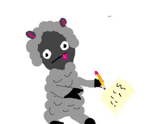 Sheep Writing