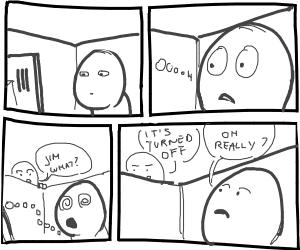 man stares at computer