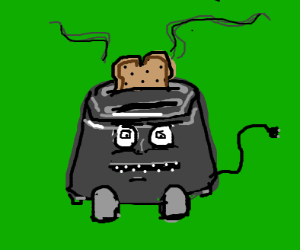 toaster with a face