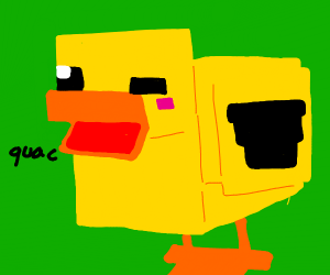why arent there ducks in mc?draw a cube duck!