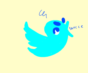 Twitter bird aggravated and screaming