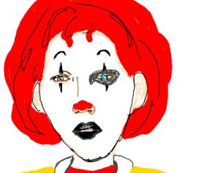Ronald McDonald/Marilyn Manson hybrid