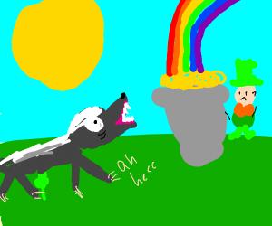 Honey badger hates leprechaun gold