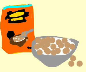 Reese's puffs family size cereal