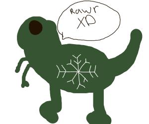 Dino in a Blizzard