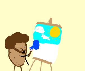 Potato is painting