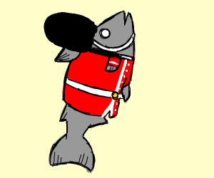 England's Queens Guard but a salmon