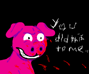 Pig on it's journey to revenge his parents