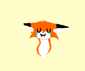 crying uwu fox