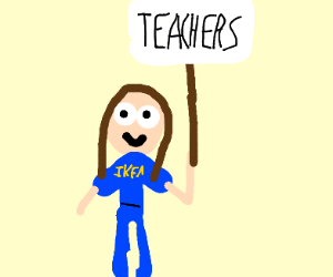 ikea worker protesting teachers