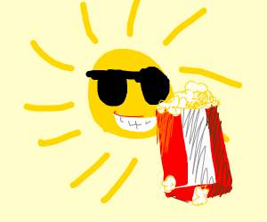 Swagilicious Sun Eats Luscious Popcorn