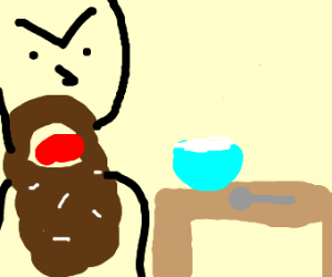 Eating Rice with a Beard