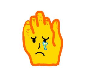 hand emoji is sad