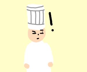 suspicious chef