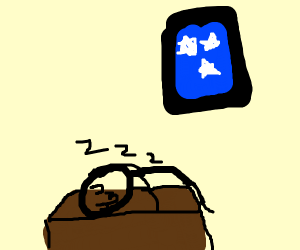 UwU sleepy time at desk