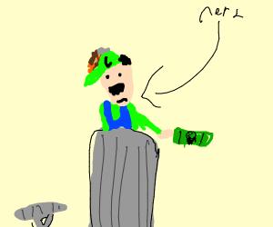 Luigi was so rich he has his own money