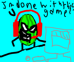 angry watermelon ragequits game