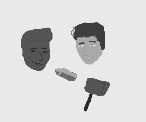 Elvis Presley sculpts his own likeness
