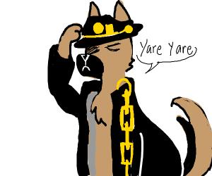 Police dog says yare yare