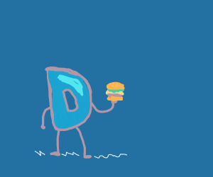 Drawception has a mini burger