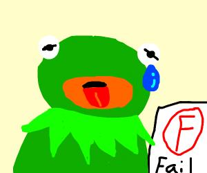 Kermit got a bad grade