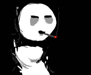 A ghost smoking