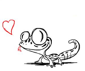 A cute leopard gecko