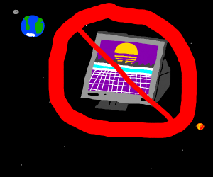 No 80's Computers in space.