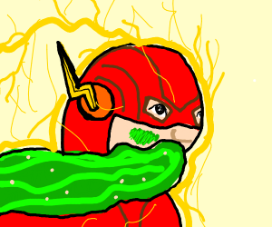 the flash but he isnt doing so well